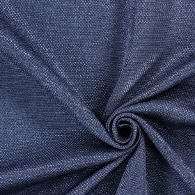 Night Time - Cobalt - Navy blue hard wearing fabric which has been interwoven with thick white threads