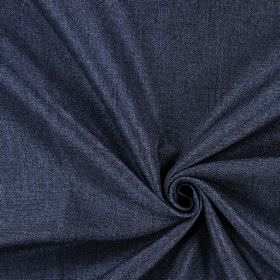 Moonbeam - Denim - Hard wearing fabric in dark blue-black colour