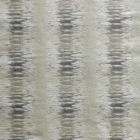 Nova - Pewter - Fabric made from polyester and viscose with a pattern of blurred vertical stripes in several light shades of grey