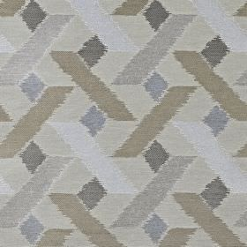 Axis - Pewter - Various different shades of grey making up a geometric shape pattern on fabric made from viscose, polyester and cotton