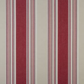 Elderberry - Cranberry - Wide and narrow bands of burgundy and light grey printed on a white 100% cotton fabric background