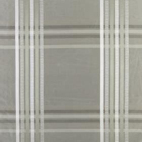 Kasmir - Silver - Checked 100% silk fabric featuring a simple design in several different light shades of grey
