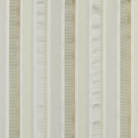 Myara - Champagne - Plain and patterned stripes in various pale shades of cream, white, beige and pale green on cotton and silk blend fabric