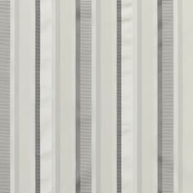 Myara - Silver - Simple striped fabric containing both cotton and silk in white and several different light shades of grey