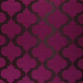 Messina - Magenta - Vertical lines which are dark grey, wavy and spiked, on a magenta coloured hard wearing fabric background