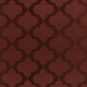 Messina - Regal - Dark red wavy lines which are horizontal and spiked on a hard wearing fabric in a slightly lighter shade of red