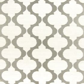 Messina - Champagne - Spiked wavy lines running in grey down off-white hard wearing fabric