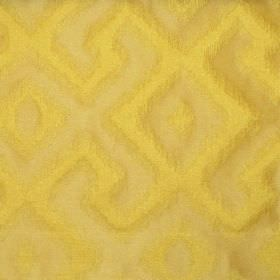 Cabrillo - Mimosa - Mimosa yellow fabric with modern line pattern