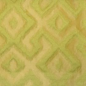 Cabrillo - Greengage - Greengage green fabric with modern line pattern