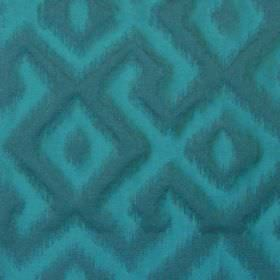 Cabrillo - Marine - Marine blue fabric with modern line pattern