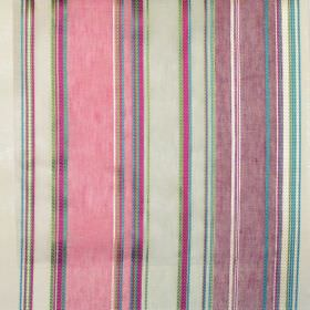 Pizarro - Marine - Purple, pink and blue stripes of different widths on light fabric