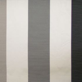 Dapper - Platinum - Platinum grey and white striped fabric