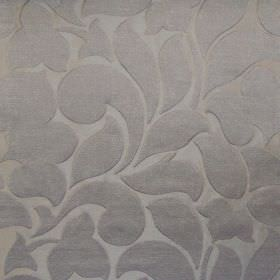 Debut - Platinum - Platinum grey fabric with a classic foliage pattern