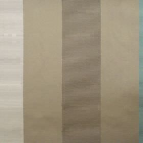 Dapper - Azure - Azure blue and brown striped fabric