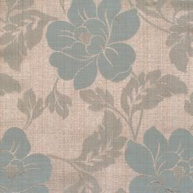 Flores - Marine - Marine blue floral pattern and fabric