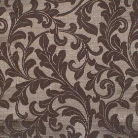 Fantasia - Cinammon - Classic dark brown foliage pattern