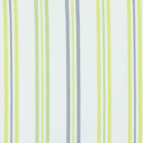 Hadley - Avocado - Avocado green and purple stripes on white fabric
