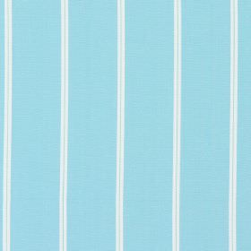 Cameo - Azure - Azure blue fabric with thin white vertical stripes