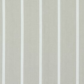 Cameo - Vellum - Vellum grey fabric with thin white vertical stripes