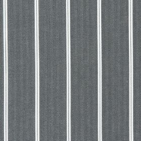 Cameo - Charcoal - Charcoal black fabric with thin white vertical stripes