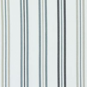 Hadley - Charcoal - Charcoal black and grey stripes on white fabric