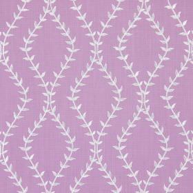 Fern - Amethyst - Amethyst purple fabric with wavy vines creating diamond shapes