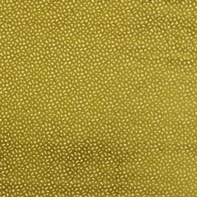 Comet - Citron - Dotted, speckled, olive green and light lemon yellow coloured polyester and viscose blend fabric