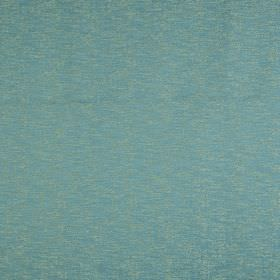 Jupiter - Marine - Aqua blue cotton and polyester blend fabric behind a subtle patchy finish in light grey