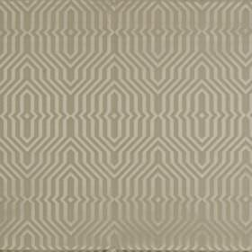 Mercury - Vellum - Elegant cement grey coloured geometric patterns on a battleship grey coloured cotton and polyester fabric background