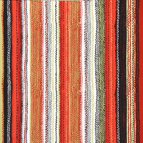 Tanglewood - Red - Modern fabric with red multicoloured stripes and wavy lines