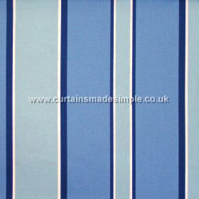Midori - Porcelain - Porcelain blue and light blue striped fabric