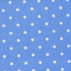 Full Stop - Sky - Blue fabric with white spots