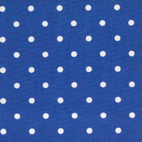 Full Stop - Sapphire - Navy blue fabric with white spots