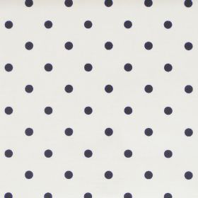 Full Stop - Onyx - White fabric with black spots