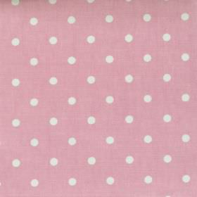 Full Stop - Rose - Pink fabric with white spots