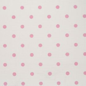 Full Stop - Pink - White fabric with pink spots