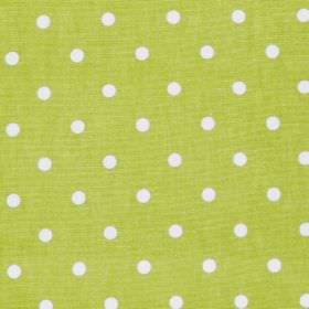 Full Stop - Citrus - Green fabric with white spots