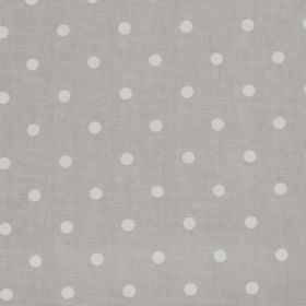 Full Stop - Vellum - Grey fabric with white spots
