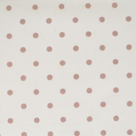 Full Stop - Fudge - White fabric with brown spots