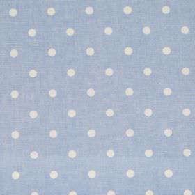 Full Stop - Indigo - Blue fabric with white spots