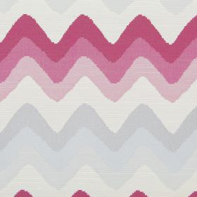 Rollercoaster - Fuchsia - Horizontal zigzag lines in fuchsia pink