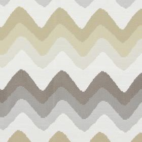 Rollercoaster - Pearl - Horizontal zigzag lines in pearl white and brown