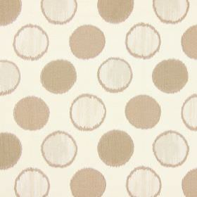 Carousel - Pearl - Light brown spots on oyster white fabric