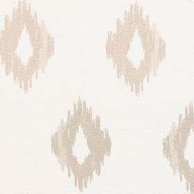 Wurlitzer - Pearl - Modern sandy diamond shapes on pearl white fabric