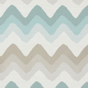Rollercoaster - Azure - Horizontal zigzag lines in azure blue and brown