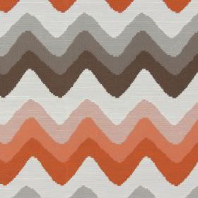 Rollercoaster - Jaffa - Horizontal zigzag lines in jaffa orange and brown