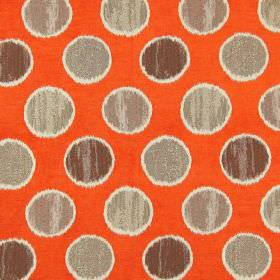Carousel - Jaffa - Brown spots on jaffa orange fabric
