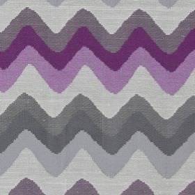 Rollercoaster - Heather - Horizontal zigzag lines in deep purple