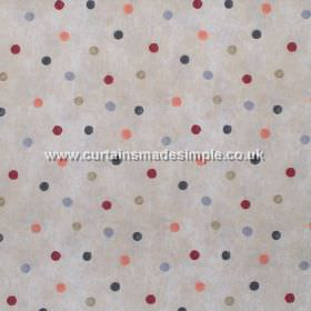 Country Spot - Cinnamon - Colourful spots on grey fabric