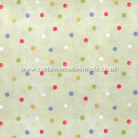 Country Spot - Harvest - Colourful spots on green fabric